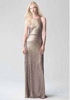 Jenny Yoo Collection (Maids) Sloane {Rose Gold} #1730 Bateau Bridesmaid Dress