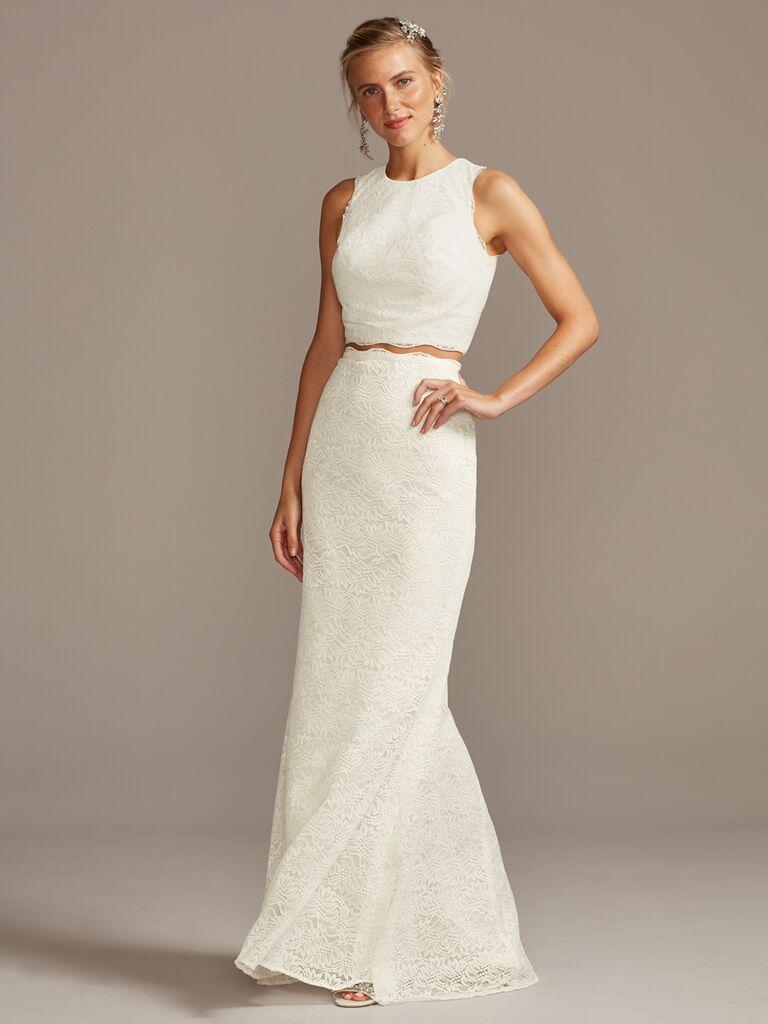 Lace Two-Piece Wedding Dress