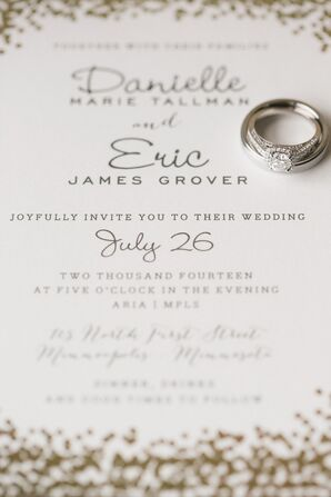 Minted.com Gold and Ivory Wedding Invitation