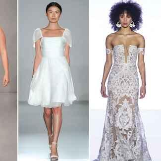 Beach wedding dresses from Bridal Fashion Week