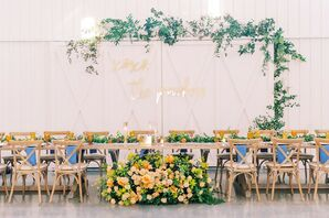 Reception at The Farmhouse in Montgomery, Texas