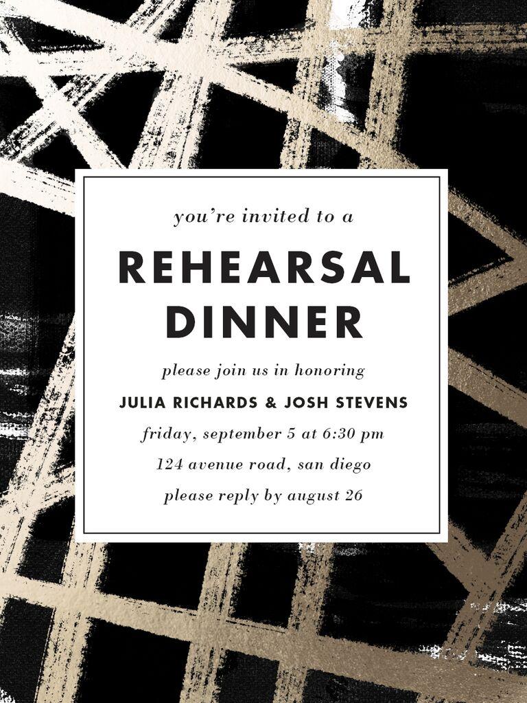 Rehearsal dinner e-invite