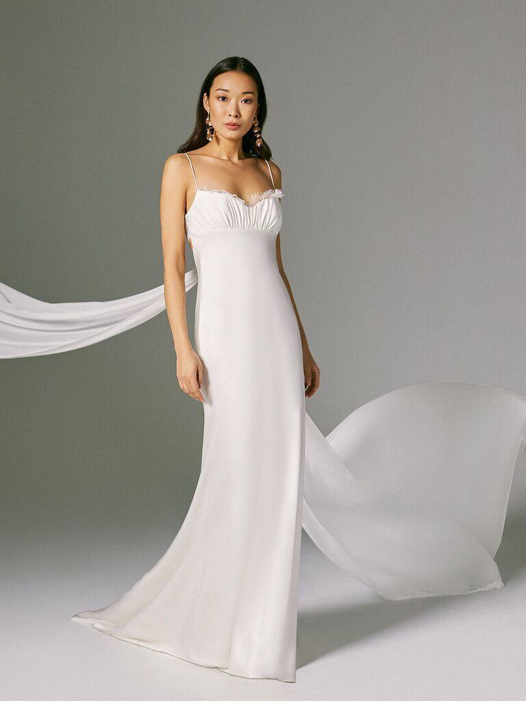 váy cưới slip dres Váy cưới màu trắng