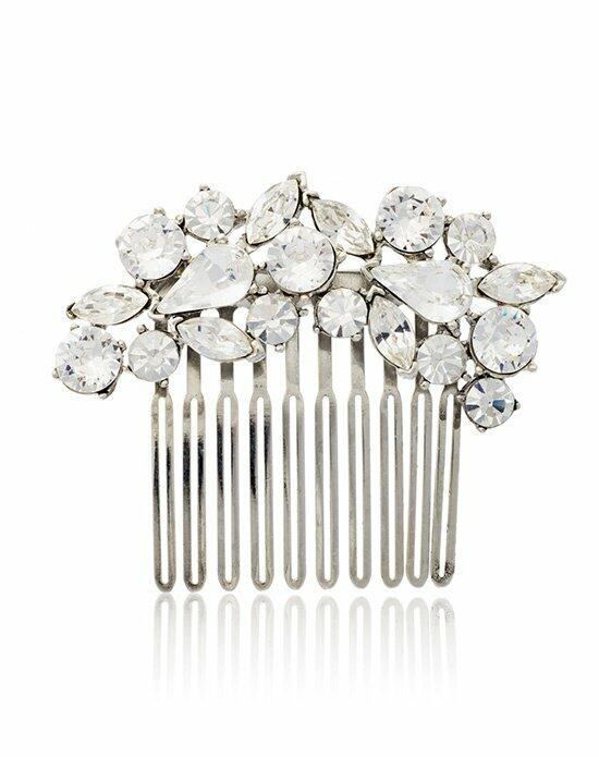 Thomas Laine Crystal Crescent Hair Comb Wedding Pins, Combs + Clips photo