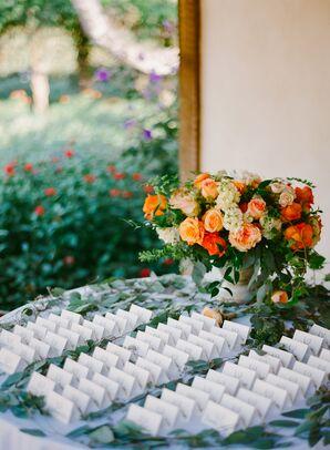 Romantic Peach Garden Rose Flower Arrangement