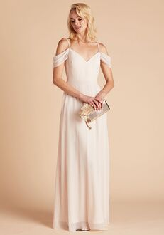 Birdy Grey Devin Convertible Dress in Champagne V-Neck Bridesmaid Dress