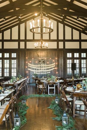Pine Tree Accents in Natural Chalet Reception