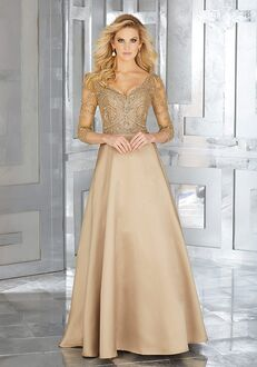 MGNY 71607 Black,Gold Mother Of The Bride Dress