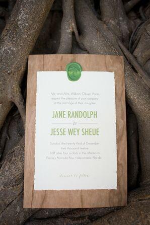 Cherry Wood Invitation