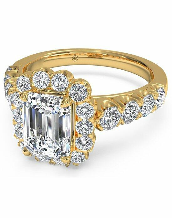 Ritani Emerald Cut Masterwork Halo Diamond Band Engagement Ring in 18kt Yellow Gold (0.75 CTW) Engagement Ring photo
