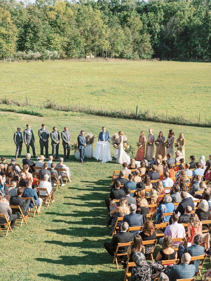 Outdoor Wedding Ceremony in a Field
