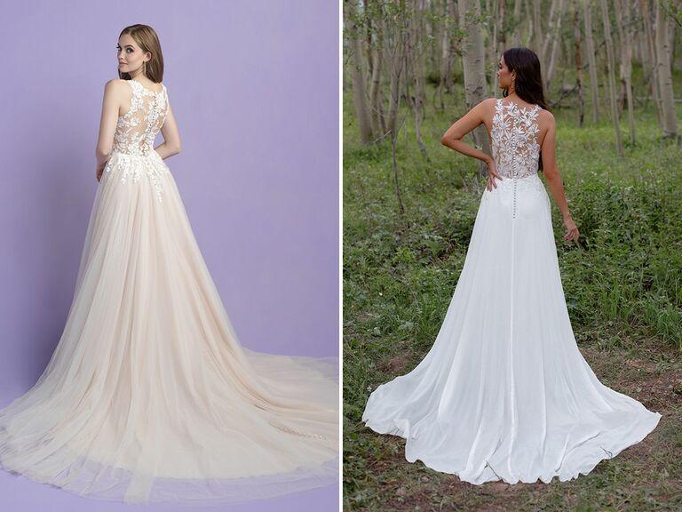 Allure Romance style: 3406; Wilderly Bride style: F225 - Drew
