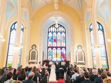 Unitarian wedding ceremony.