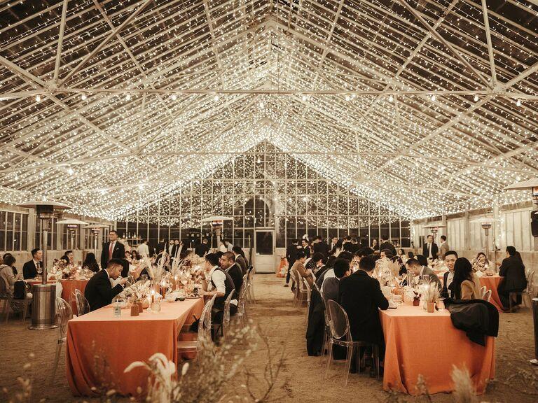 Fall wedding ideas string lights