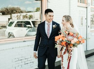 """Ariel and Kyle wanted their guests to depart the wedding """"and say to themselves 'that was so them!' We wanted our day to be unique, fun and different"""