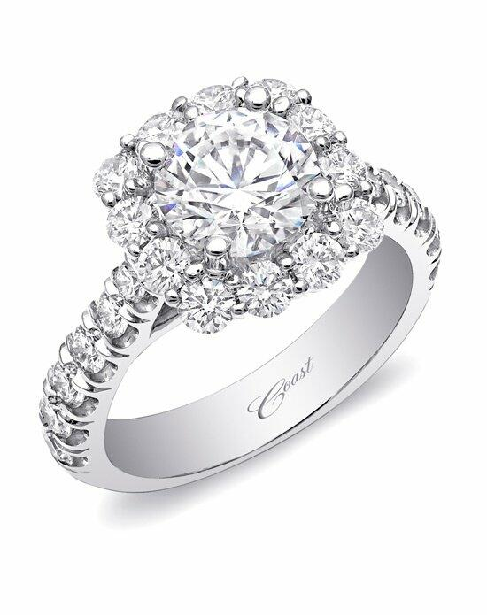 Coast Diamond Cushion Halo Engagement Ring-LZ5015 Engagement Ring photo