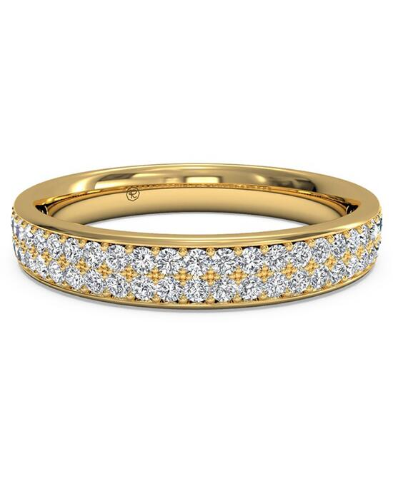 Ritani Women's Double Micropave Diamond Wedding Band - in 18kt Yellow Gold (0.25 CTW) Wedding Ring photo