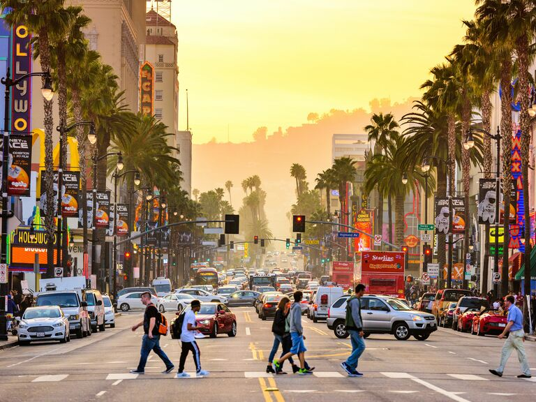Hollywood Boulevard in LA