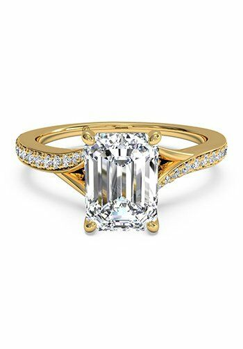 Emerald cut engagement rings the knot | Cool costume ...