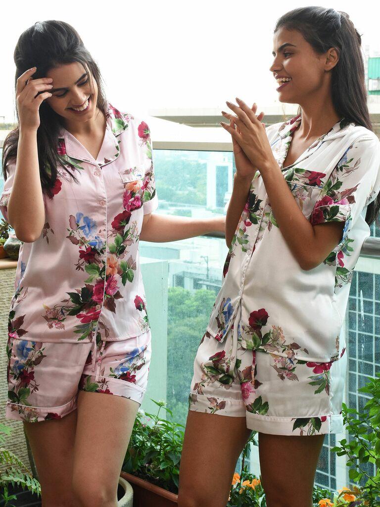 colorful floral pajamas