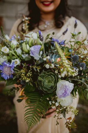 Modern Bouquet of Succulents and Greenery