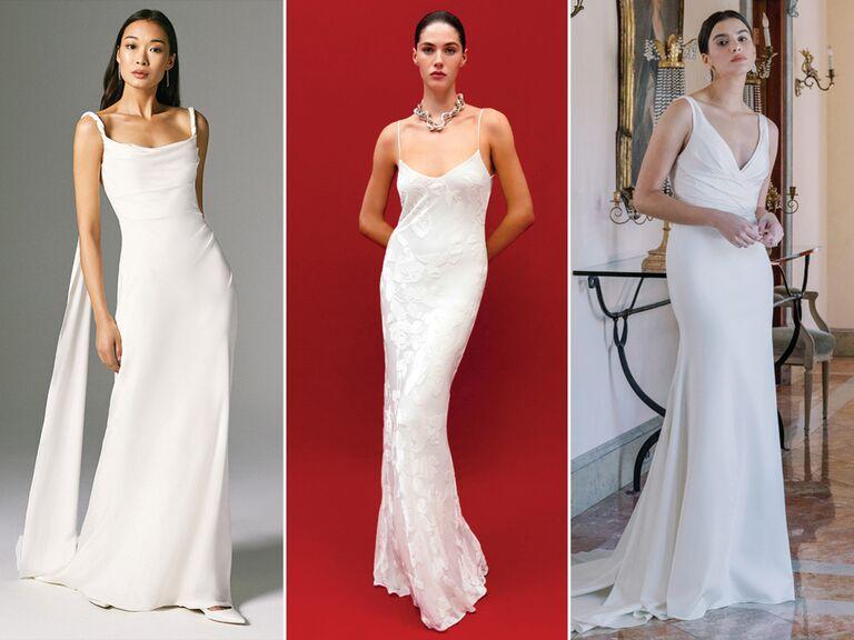 slip dress wedding dresses