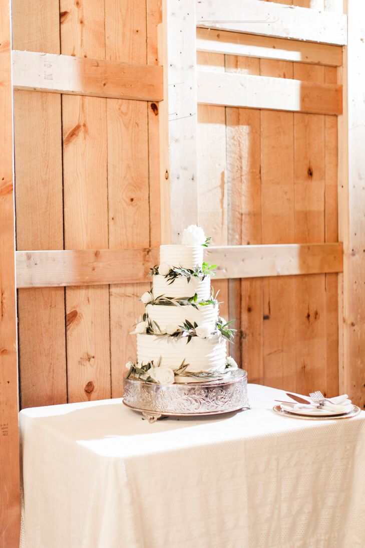 Tiered Buttercream Cake with Eucalyptus