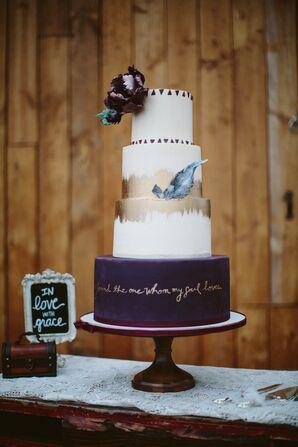 Boho-Inspired Wedding Cake