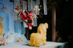 Chinese Performers and Dancers at Wedding in Zhangjiajie, China