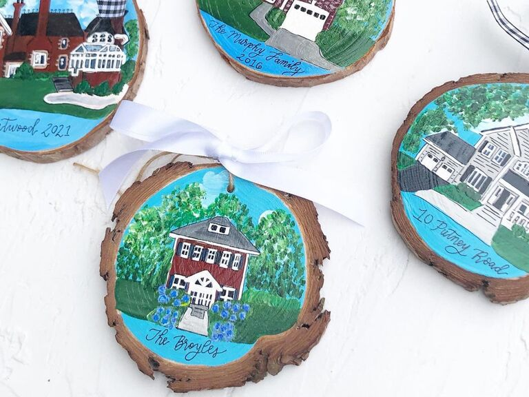 Custom house ornament gift for boyfriend/girlfriend's parents