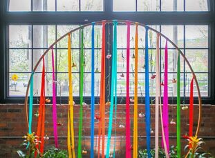 For Clarissa and Weston's wedding, all things colorful, happy and bright were a must. Reams of ribbon and bushels of flowers later, that proved to be