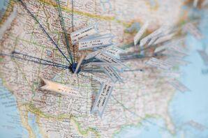 Wedding Guest Travel Map