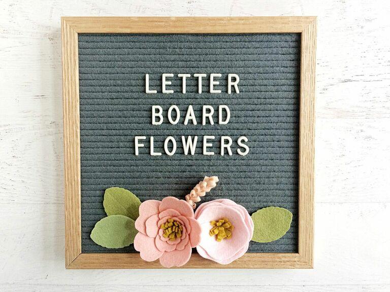 felt letter board flowers