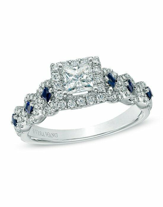 Vera Wang LOVE at Zales Vera Wang LOVE Collection 1 CT T W Diamond and Blue