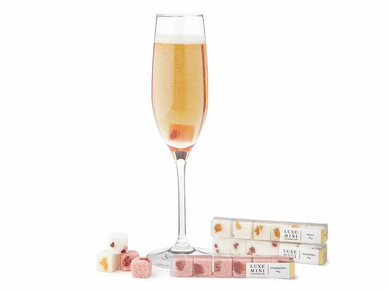 mimosa cubes wedding party gift