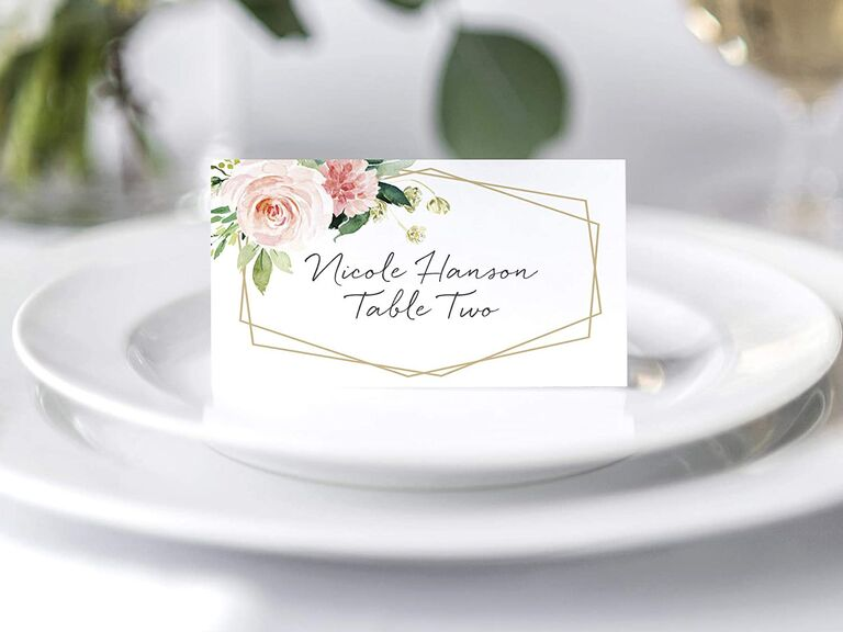 Bliss Collections floral place cards