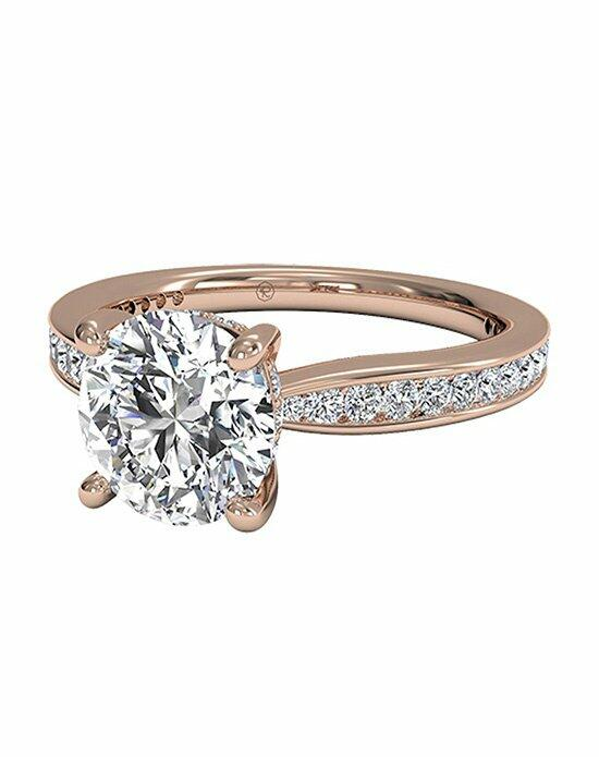 Ritani Round Cut Tapered Channel-Set Diamond Band Engagement Ring in 18kt Rose Gold (0.38 CTW) Engagement Ring photo