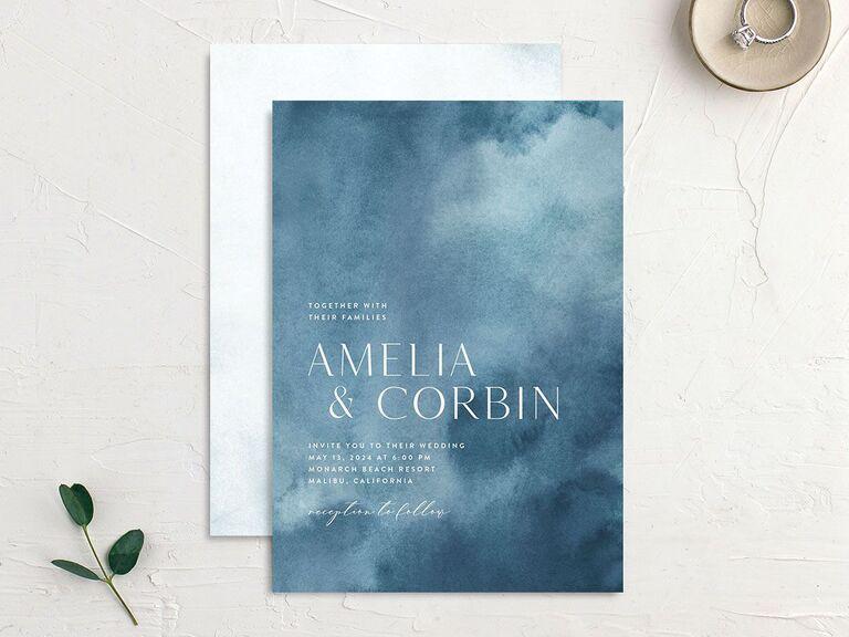 personalized wedding invitations cloud design