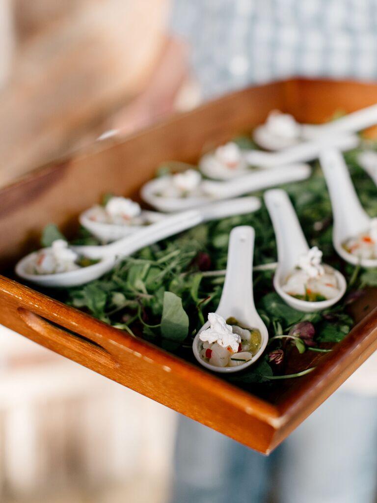Farm-to-table wedding menu.
