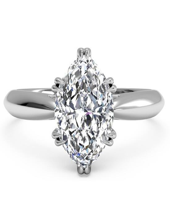 Ritani Solitaire Diamond Tulip Cathedral Engagement Ring - in 14kt White Gold for a Marquise Center Stone Engagement Ring photo