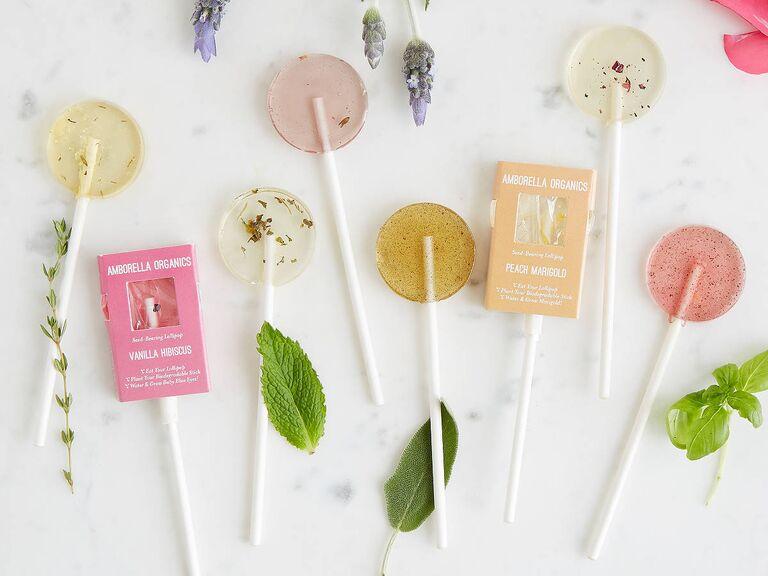 floral lollipops bridesmaid proposal gift