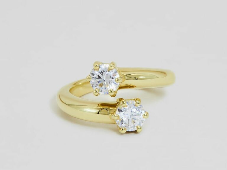 Ceremony two stone engagement ring