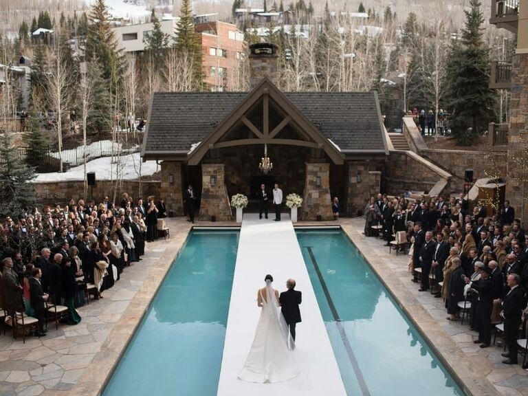 Mountain wedding venue in Vail, Colorado.