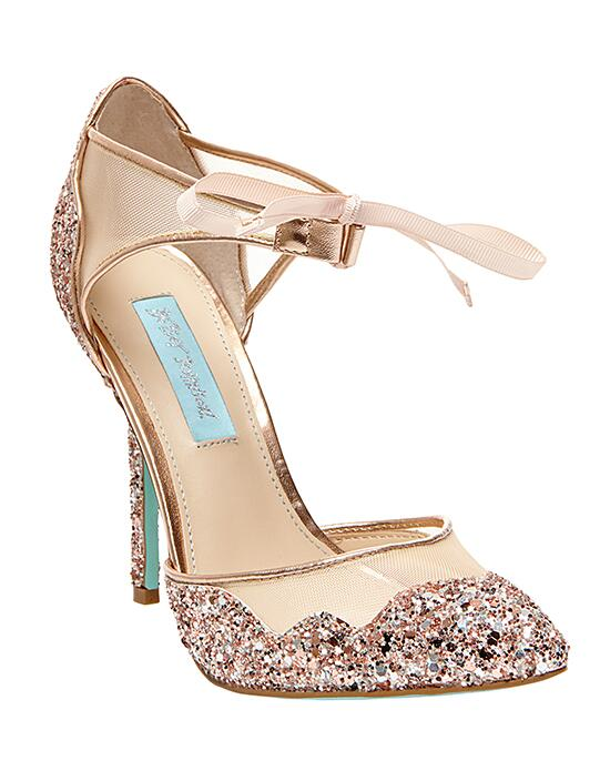 Blue by Betsey Johnson SB-STELA-champagne Wedding Shoes photo
