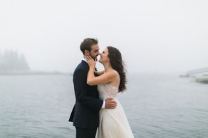 Jenn and Ethan Waterside Maine Wedding Location
