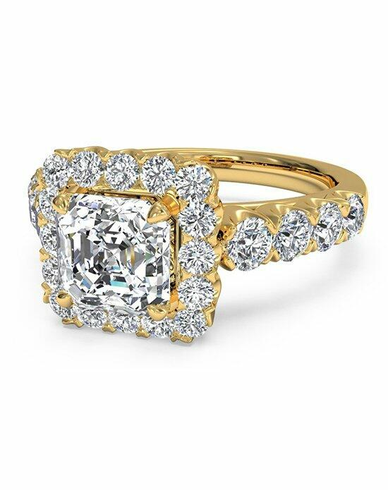 Ritani Asscher Cut Masterwork Halo Diamond Band Engagement Ring in 18kt Yellow Gold (0.75 CTW) Wedding Ring photo