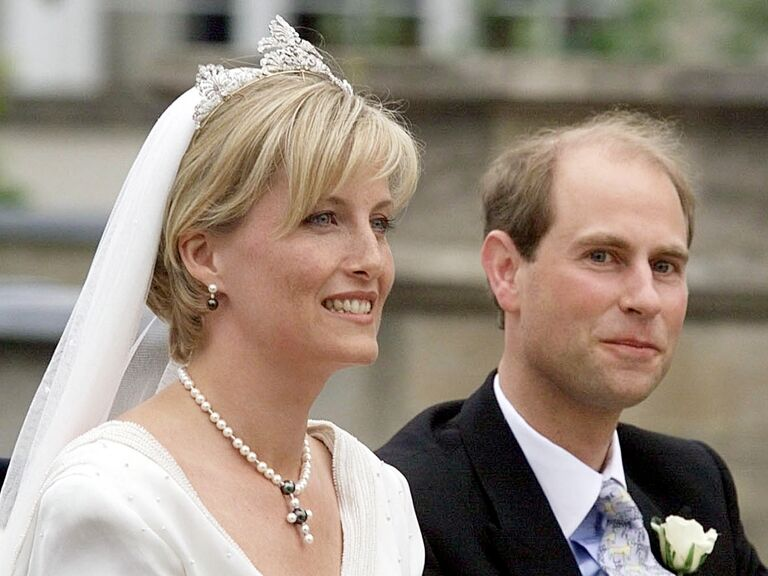 Sophie, Countess of Wessex on her wedding day
