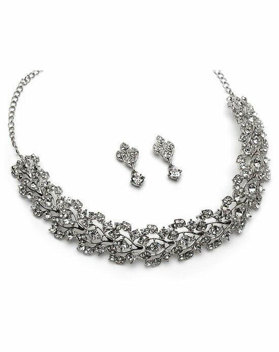 USABride Rhinestone Floral Choker Set Wedding Necklaces photo