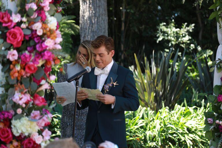 garrett clayton wedding vows emotional alicia silverstone