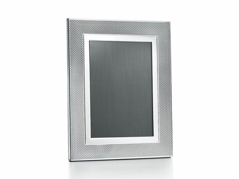 Sterling silver wedding photo frame